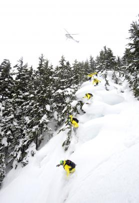 CPG cat skiing offers steeps, trees and these wonderful powder pillows