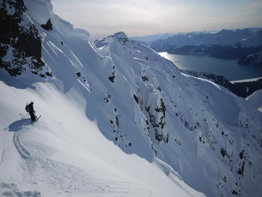 heli-skiing in Seward with CPG