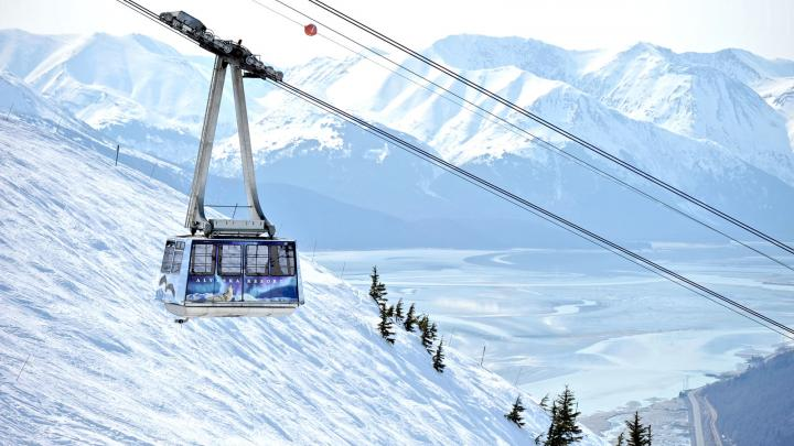 The tram at Alyeska Resort