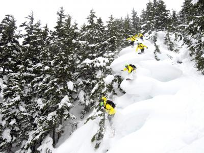 CPG Chugach Powder Guides - cat skiing powder pillows in Girdwood Alaska